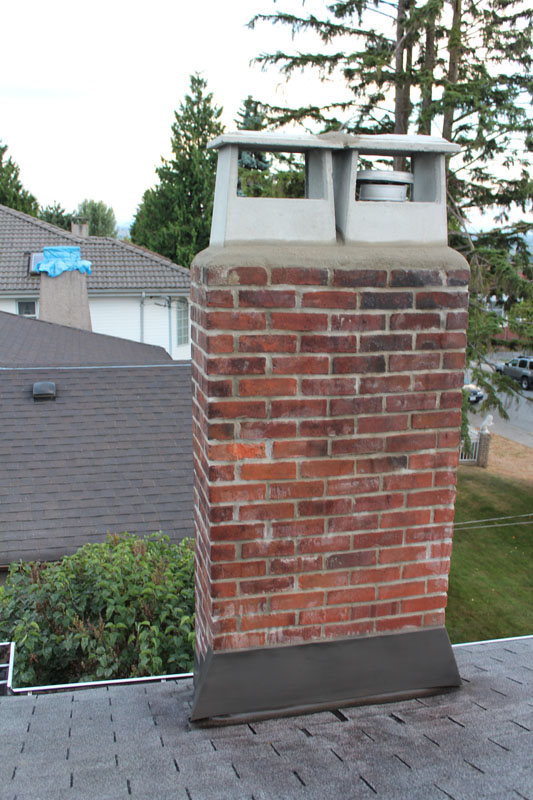 Complete Chimney Repair - After | Red Brick Chimney Services