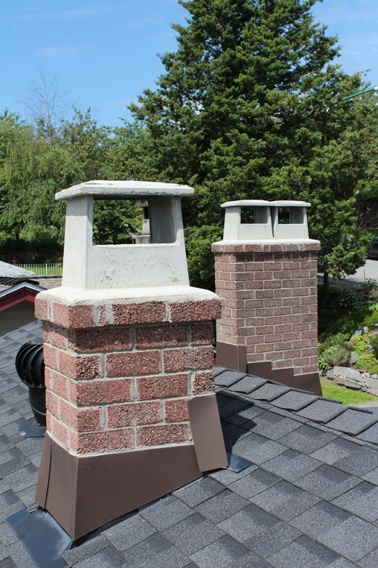 Rebuild Drip Edge and Chimney Pot - After | Red Brick Chimney Services