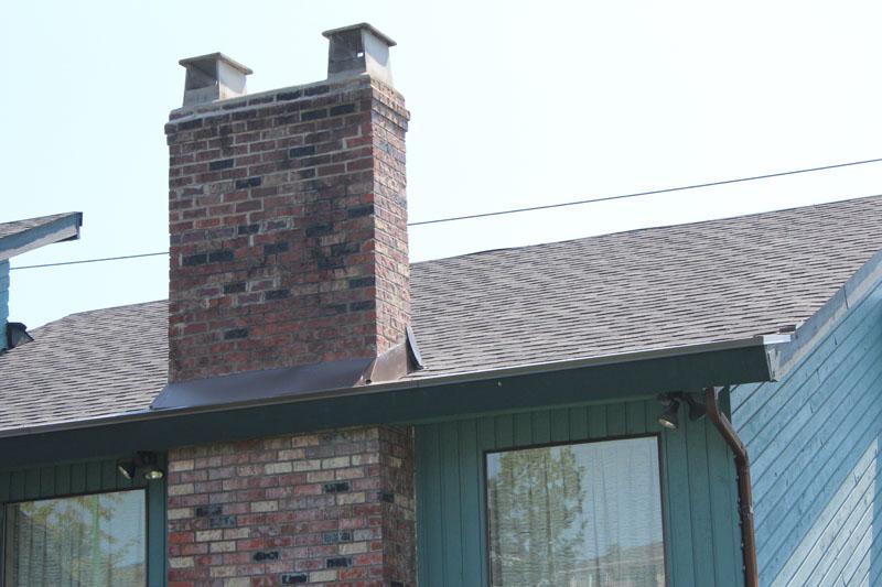 New Asphalt Roof Installation and Chimney Flashing | Red Brick Chimney Services