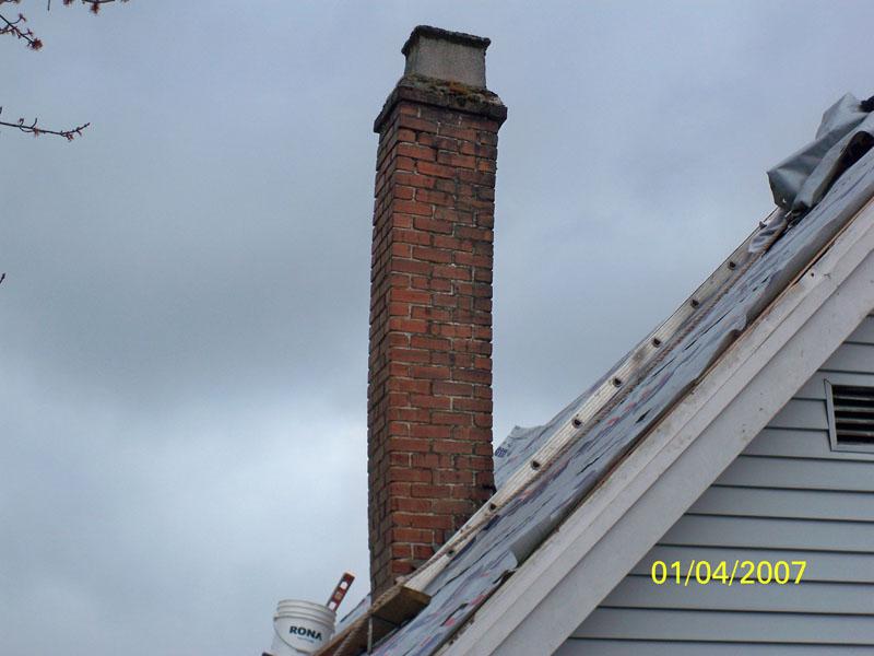 Chimney Rebuild - Before | Red Brick Chimney Services